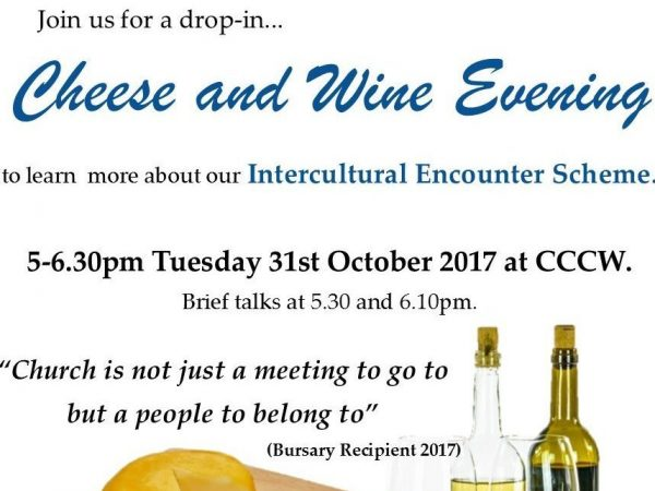 Cheese and Wine Evening – Come and find out more about our Intercultural Encounter Scheme