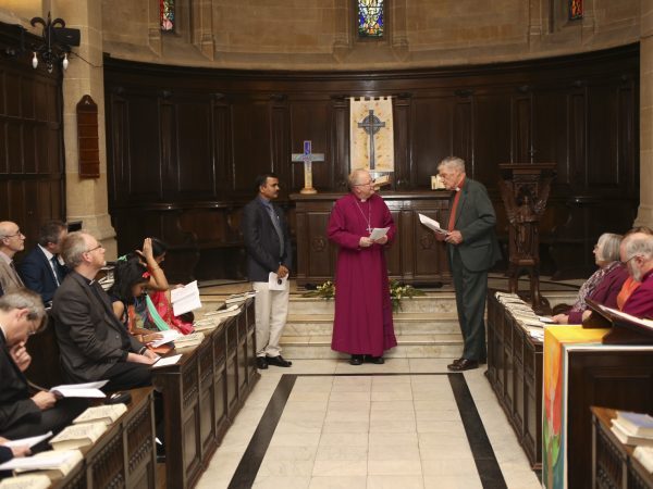 Photographs of new CCCW director's commissioning service